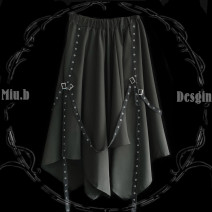 skirt Autumn of 2019 Average size black Other / other