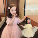 Dress Cream yellow, girl powder female Chen Chen's mother 80, 90, 100 (model), 110, 120, 130, 140 Other 100% summer leisure time Short sleeve other Fluffy skirt Y3011 12 months, 18 months, 2 years old, 3 years old, 4 years old, 5 years old Chinese Mainland Guangdong Province Guangzhou City