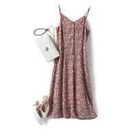 Dress Summer 2020 Decor S,M,L Mid length dress singleton  Sleeveless commute V-neck High waist Decor Single breasted camisole 35-39 years old Type X Other / other Britain