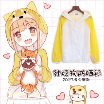 Cartoon T-shirt / Shoes / clothing T-shirt Over 14 years old God annoys the dog goods in stock Shenfan dog sunscreen coat S M L XL XXL Summer and spring Japan currency Curtilage Cute Japanese fashion trend sweet Street Sports polyester fiber