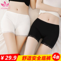 underpants female Lace white, lace black, lace skin color, plain white, plain black, plain skin color, white + Black + skin Average size (70-110 kg), plus size (100-130 kg) Moyami 4 cotton boxer middle-waisted Sweet Solid color juvenile More than 95% Bamboo fiber fabric Antibacterial lesbian
