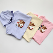 Sweater / sweater Other / other Pink, yellow, blue female 105cm,110cm,120cm,130cm,145cm,155cm,165cm,170cm spring and autumn nothing Socket No model other Cotton 93% other 7%