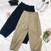 Women's large Summer 2020 Navy radish pants, khaki radish pants L code, ll code, 3L code trousers singleton  commute moderate Simplicity routine 25-29 years old trousers