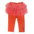trousers female Orange summer Cropped Trousers princess No model Leggings Leather belt middle-waisted cotton Don't open the crotch Cotton 95% other 5% 2 years old, 3 years old, 4 years old, 5 years old, 6 years old, 7 years old