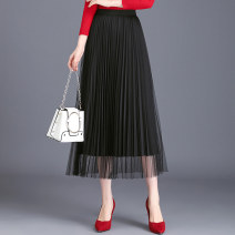 skirt Spring 2020 Average size Mid length dress Versatile High waist Pleated skirt Solid color Type A 25-29 years old W-8820 71% (inclusive) - 80% (inclusive) other polyester fiber Pleats, gauze, stitching 181g / m ^ 2 (including) - 200g / m ^ 2 (including)