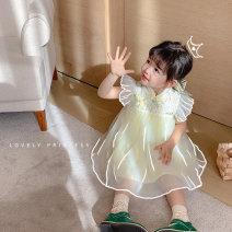 Dress Blue, yellow female Qiqi Miaomiao 90cm,100cm,110cm,120cm,130cm Cotton 100% summer leisure time Skirt / vest cotton Skirt / vest YC12QZ023 Class A 2 years old, 3 years old, 4 years old, 5 years old, 6 years old, 7 years old, 8 years old