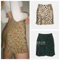 skirt Summer 2021 Xs, s (not easy to wrinkle), m (not easy to wrinkle), l (not easy to wrinkle) Color, leopard print, Wizard of Oz Short skirt Versatile High waist A-line skirt Decor Type A More than 95% silk