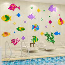 Wall stickers Acrylic Small, medium, large, extra large, extra large Three dimensional Wall Sticker Waterproof wall sticker set Children's room Others animal Simple and modern Wukong home decoration 1053 color fish
