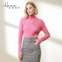 Wool knitwear Autumn of 2019 165/88A/L An pink br jujube HN lilac II Black JJ pure white kn light rice Mo Camel Long sleeves singleton  Socket wool More than 95% Regular Thin money commute Self cultivation High collar routine Solid color Socket Simplicity AC00603 30-34 years old Helmans Wool 100%