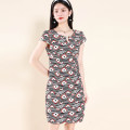 Dress Summer 2021 Black red M,L,XL,2XL,3XL B388 91% (inclusive) - 95% (inclusive) polyester fiber