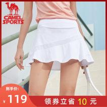 Sports skirt Camel female S (adult) m (adult) l (adult) XL (adult) XXL (adult) Spring 2020 Sports & Leisure ventilation Brand logo letter Sports life yes polyester fiber