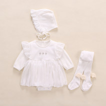 Dress female Other / other 12m / 80cm / recommended 9-12 months high 73-80cm, 3m / 59cm / recommended 1-3 months high 48-49, 6m / 66cm / recommended 3-6 months high 59-66cm, 9m73cm / recommended 6-9 months high 66-73cm Cotton 97% other 3% spring and autumn princess Long sleeves other cotton other