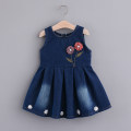 Dress Blue, denim blue female Other / other Cotton 85% polyester 15% spring and autumn princess Skirt / vest other Denim Pleats Class B 9 months, 18 months, 2 years old, 3 years old, 4 years old, 5 years old, 6 years old, 7 years old, 8 years old Chinese Mainland Zhejiang Province Huzhou City