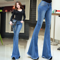 Jeans Winter 2016 blue S,M,L,XL trousers High waist Flared trousers Multiple pockets American and Iraqi