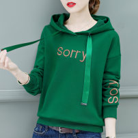 Sweater / sweater Spring of 2019 M L XL XXL XXXL Long sleeves routine Socket singleton  routine Hood easy commute routine letter 18-24 years old 81% (inclusive) - 90% (inclusive) Lenxaer Korean version cotton Embroidered thread Drawstring Cotton 83% polyester 17% Pure e-commerce (online only)