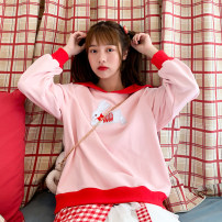 Sweater / sweater Spring 2020 Pink, red, blue S,M,L Long sleeves routine routine Admiral easy Sweet 18-24 years old 96% and above cotton cotton solar system