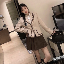 woolen coat Winter 2020 XS,S,M,L other 71% (inclusive) - 80% (inclusive) routine Long sleeves commute Single breasted routine tailored collar Solid color Self cultivation Splicing Solid color
