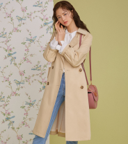 Windbreaker Spring 2020 S / 85, M / 88, L / 91, chest 112, length 103 Beige beige, light yellow, black, light yellow spot, beige spot Long sleeves Medium length commute double-breasted other routine Solid color Korean version Roem RMJTA1202A 51% (inclusive) - 70% (inclusive) polyester fiber
