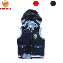 Vest male Bearfamania / famini spring and autumn routine zipper No model in real shooting leisure time Pure cotton (100% content) stripe Cotton 100% Famini Class B Three, four, five, six, seven, eight Orange, Navy 110cm,120cm
