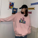 Sweater / sweater Winter 2020 Grey, pink, red M,L,XL,2XL Long sleeves routine Socket singleton  Plush Hood easy street routine Cartoon animation 18-24 years old 71% (inclusive) - 80% (inclusive) other Pocket, print, drawcord cotton Cotton liner neutral