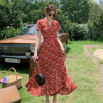 Dress Summer 2021 Decor S,M,L,XL longuette singleton  Short sleeve commute V-neck middle-waisted Decor Big swing routine Others 18-24 years old 0325-01 31% (inclusive) - 50% (inclusive) Chiffon other