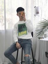 Sweater Youth fashion Others Black, white S. M, l, XL, 2XL, 3XL, s (thickening), m (thickening), l (thickening), XL (thickening), XXL (thickening), 3XL (thickening) other Socket Plush Crew neck autumn easy leisure time youth