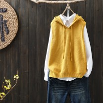 Vest Autumn of 2018 Yellow, red, black, brown, coffee yellow Average size routine Hood commute nylon