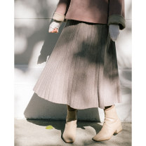 skirt Winter 2020 S,M,L Taro paste, oat, milk white, dry rose powder commute A-line skirt Solid color Type A Ruyi skirt More than 95% Other / other wool