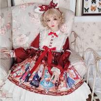 Dress Spring 2021 S,M,L longuette singleton  Long sleeves Sweet Crew neck High waist other other Big swing routine camisole 18-24 years old Type A printing 71% (inclusive) - 80% (inclusive) other other Lolita
