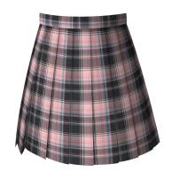 skirt Summer 2020 S,M,L,XL Haitang pear flower skirt (picture color) Short skirt fresh High waist Pleated skirt lattice 18-24 years old Begonia pear flower 51% (inclusive) - 70% (inclusive) other other