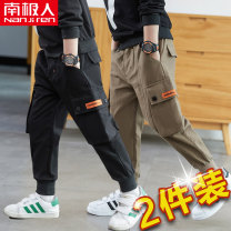 trousers NGGGN male 110cm 120cm 130cm 140cm 150cm 160cm spring and autumn trousers motion There are models in the real shooting Leggings Leather belt middle-waisted Pure cotton (100% content) Don't open the crotch Cotton 100% 2020K20060 Class B 2020K20060 Summer 2020 Chinese Mainland