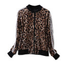 short coat Autumn 2020 XS,S,M,L Black, silver, leopard print Long sleeves routine routine singleton  Straight cylinder street raglan sleeve Crew neck zipper Solid color 91% (inclusive) - 95% (inclusive) Pocket, thread 9WD36004 K other nylon