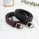 Belt / belt / chain Pu (artificial leather) Black, coffee female belt Simplicity Single loop Children, youth, youth, middle age, old age Smooth button other Glossy surface 1.8cm alloy alone WP261