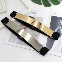 Belt / belt / chain Metal female Waistband grace Single loop Glossy surface Glossy surface 4cm alloy Tightness HF
