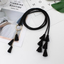 Belt / belt / chain Pu (artificial leather) Black, camel, red, gray, khaki, add buy + collection store + baby, free freight insurance female belt Versatile Single loop Children: 1-6 years old, children, teenagers, youth, middle age, old age other soft surface 0.5cm alloy Weaving, tassels HF WP224