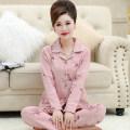 Pajamas / housewear set female Other / other S size (70-85 Jin), M size (80-100 Jin), L size (100-120 Jin), XL SIZE (120-140 Jin), XXL size (140-160 Jin), XXXL size (160-180 Jin), 4XL size (180-200 Jin). You can give me a small gift when you take photos cotton Long sleeves luxurious pajamas spring