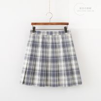 skirt Winter 2021 S,M,L,XL Short skirt Pleated skirt lattice 18-24 years old Plaid skirt Other / other other