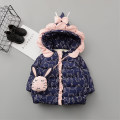 Cotton padded jacket female No detachable cap Cotton 96% and above Other / other Khaki, lavender, navy The recommended height is about 80cm for 80, 90cm for 90, 95cm for 100, 100cm for 110 and 110cm for 120 thickening Zipper shirt Korean version No model Cartoon animation Crew neck 18DMA369