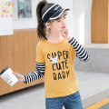 T-shirt Aier rabbit 110cm 120cm 130cm 140cm 150cm 160cm female spring and autumn Long sleeves Crew neck leisure time There are models in the real shooting nothing cotton Cartoon animation Cotton 100% Class B Spring 2021 Four, five, six, seven, eight, nine, ten, eleven, twelve