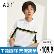 Polo shirt A21 Youth fashion routine Tebai 165/80A/S 170/84A/M 175/88A/L 180/92A/XL 185/96A/XXL easy Other leisure summer Short sleeve F402131011 tide youth Cotton 80% polyester 20% other Splicing Summer 2020 Same model in shopping mall (sold online and offline)
