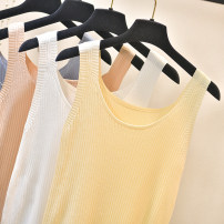 Vest sling Spring 2020 Black, white, apricot, grayish blue, light orange S,M,L,XL singleton  routine Self cultivation Versatile camisole Solid color 51% (inclusive) - 70% (inclusive) other thread