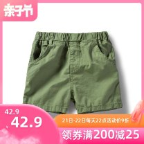 trousers Bambina male 100cm 110cm 120cm 130cm 140cm 150cm 160cm summer shorts leisure time No model Casual pants Leather belt middle-waisted Pure cotton (100% content) Don't open the crotch Cotton 100% Class B Spring 2020 Chinese Mainland Guangdong Province