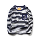 T-shirt 3015 dark blue Bambina 100 (3-4 years old) 110 120 130 140 150 160 male spring and autumn Long sleeves Crew neck leisure time No model nothing Pure cotton (100% cotton content) stripe Cotton 100% hq3015a Class B Sweat absorption Autumn of 2018 Chinese Mainland Guangdong Province Shantou City