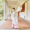 Tang costume Polyester 100% female spring and autumn routine There are models in the real shot Han children Solid color Class A polyester fiber 2, 3, 4, 5, 6, 7, 8, 9, 10, 11, 12 years old K19197-K19198 Chinese Mainland Guangdong Province Cotton liner Dongguan City 90,100,110,120,130,140,150