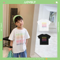T-shirt White, black, white pre-sale, black pre-sale OO+KIDS 80cm,90cm,100cm,110cm,120cm,130cm,140cm,150cm neutral summer Short sleeve Crew neck Korean version There are models in the real shooting other letter other 2 years old, 3 years old, 4 years old, 5 years old, 6 years old Chinese Mainland