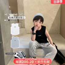 Vest sling Sleeveless 80,90,100,110,120,130,140,150 summer OO+KIDS neutral There are models in the real shooting Korean version letter Crew neck nothing other other Three, six, two, five, four Chinese Mainland