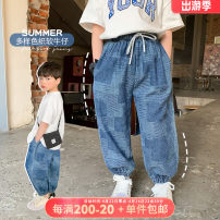 trousers OO+KIDS neutral 80cm,90cm,100cm,110cm,120cm,130cm,140cm,150cm Denim, denim presale summer trousers leisure time There are models in the real shooting Casual pants Leather belt middle-waisted other other 2 years old, 3 years old, 4 years old, 5 years old, 6 years old Chinese Mainland