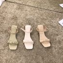 Sandals 35,36,37,38,39 Xy33-3 green, xy33-3 apricot, xy33-3 Pink PU Other / other Square head Thick heel Middle heel (3-5cm) Summer 2021 Flat buckle Solid color Adhesive shoes daily Buckle, thick heel, Roman style PU PU Roman shoes