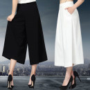 Casual pants Autumn 2020 Ninth pants Wide leg pants High waist Versatile routine 91% (inclusive) - 95% (inclusive) -Jygdamsd - / simple brother amashidai nylon Three dimensional cutting nylon