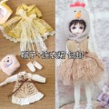 BJD doll zone Dress 1/6 Over 14 years old goods in stock HAT + dress, yellow (HAT + dress), chicken HAT + dress BJD Dress